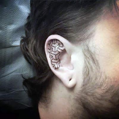 Cute Small Tattoo on ears