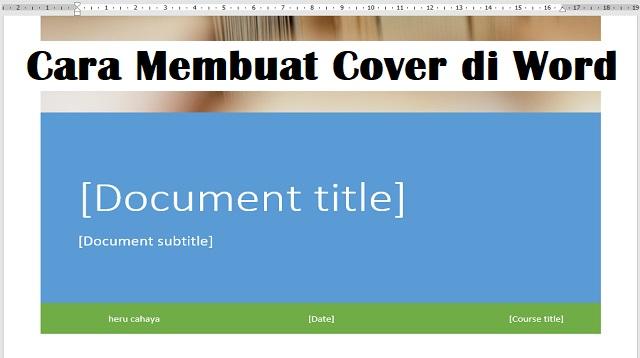 Cara Membuat Cover di Word