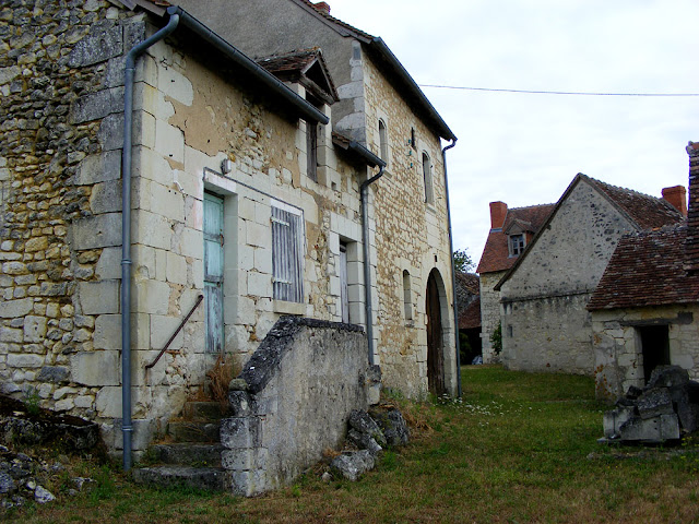 An old house in a hamlet.  Indre et Loire, France. Photographed by Susan Walter. Tour the Loire Valley with a classic car and a private guide.
