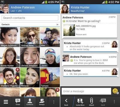 Tampilan BBM Versi Lama Untuk Android