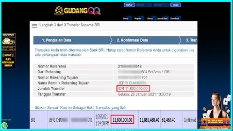 Selamat Kepada Member Setia GudangQQ WD sebesar Rp. 11,800,000.-