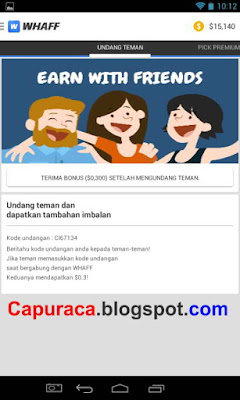 program earn with friends membantu penghasilan whaff