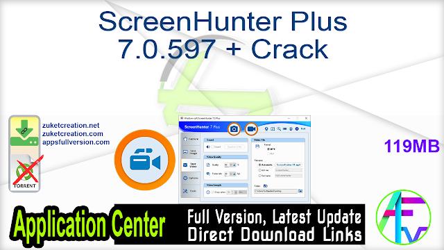 ScreenHunter Plus 7.0.597 + Crack