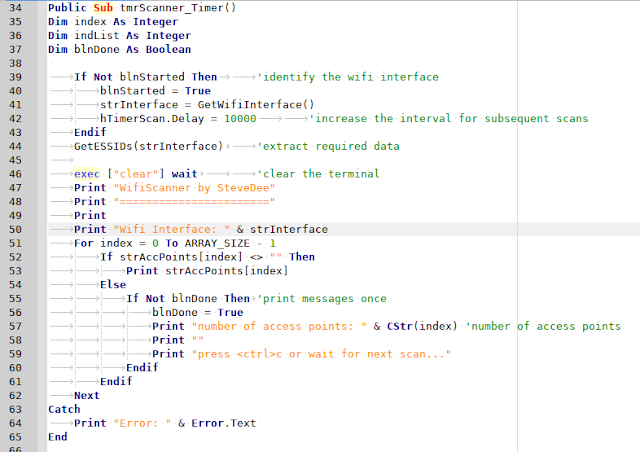 Gambas script scripter Geany wifi Linux programming