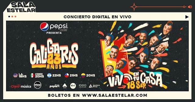 Los Caligaris festejarán sus 23 años de vida con un show en vivo desde Sala Estelar