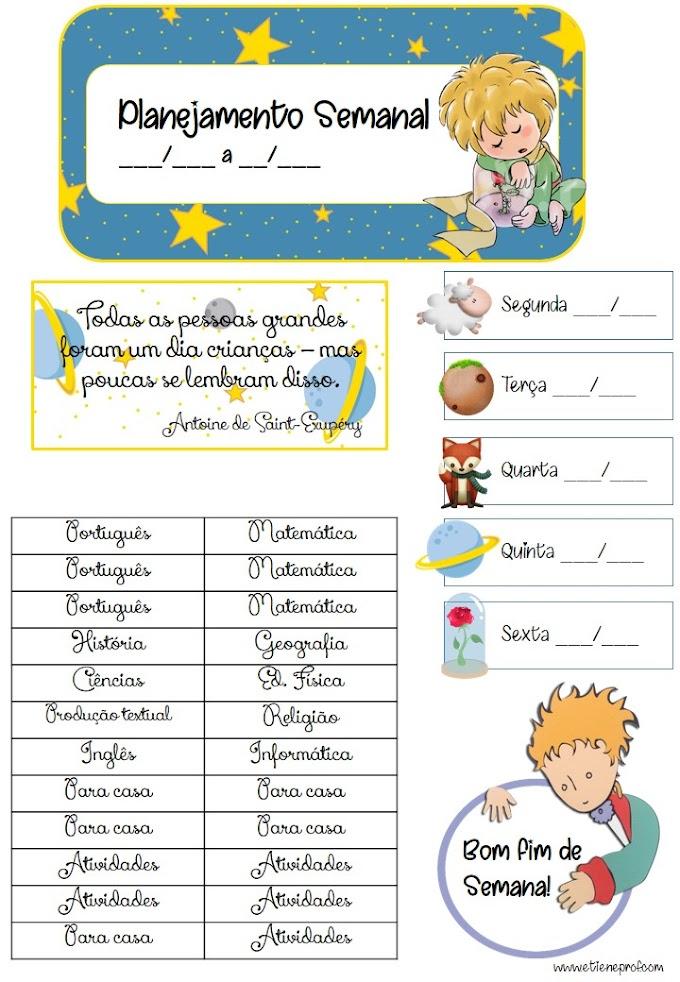 Etiquetas de Plano do Pequeno Príncipe