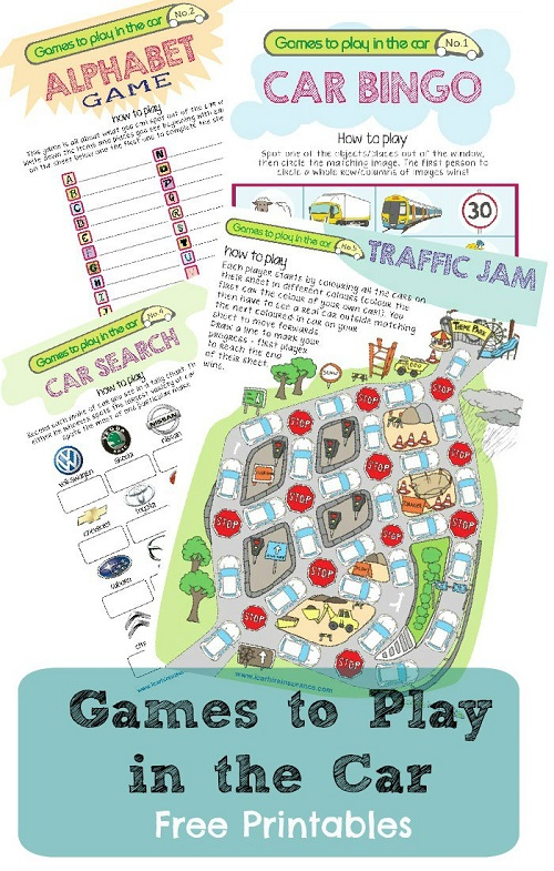 Keeping Kids Entertained in the Car : Travel Printables for Kids