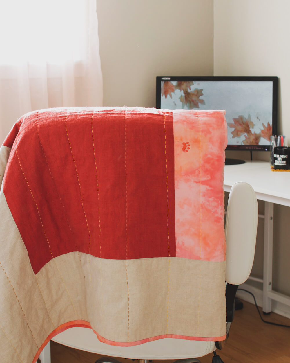 Visible Mending on quilt top | Cypress Street Home
