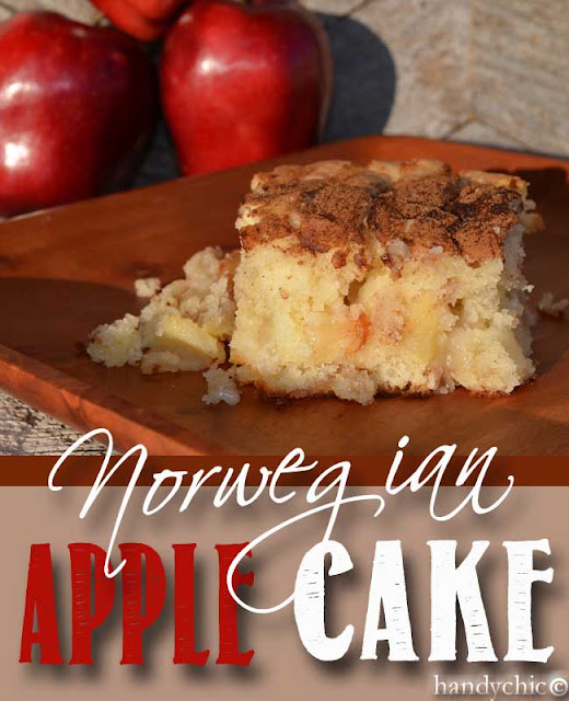 Yummy delicious apple filled cake.