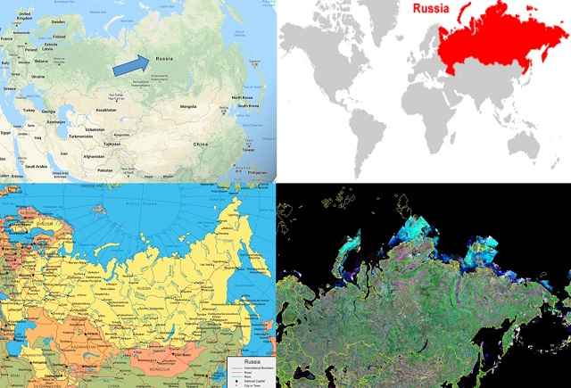 peta negara rusia
