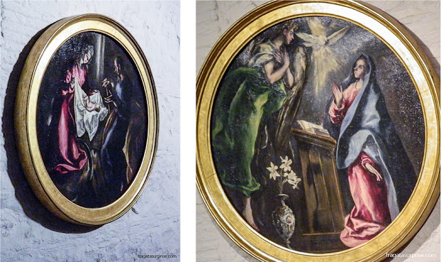 """""""Natividade"""" e """"Anunciação"""", obras expostas no Museu Casa de El Greco em Toledo, Espanha"""
