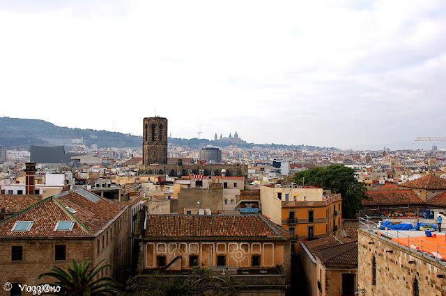 Vista panoramica di Barcellona dalla terrazza della Cattedrale