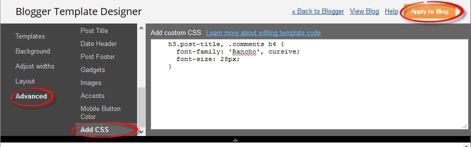 css, blogger template designer