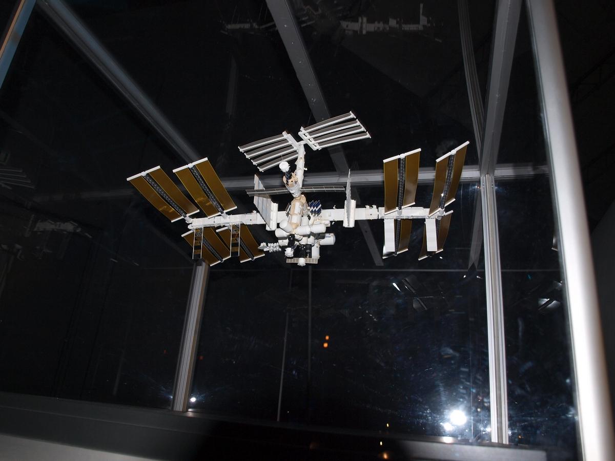 Miniaturowy model Międzynarodowej Stacji Kosmicznej ISS | Fot: polskiastrobloger.pl