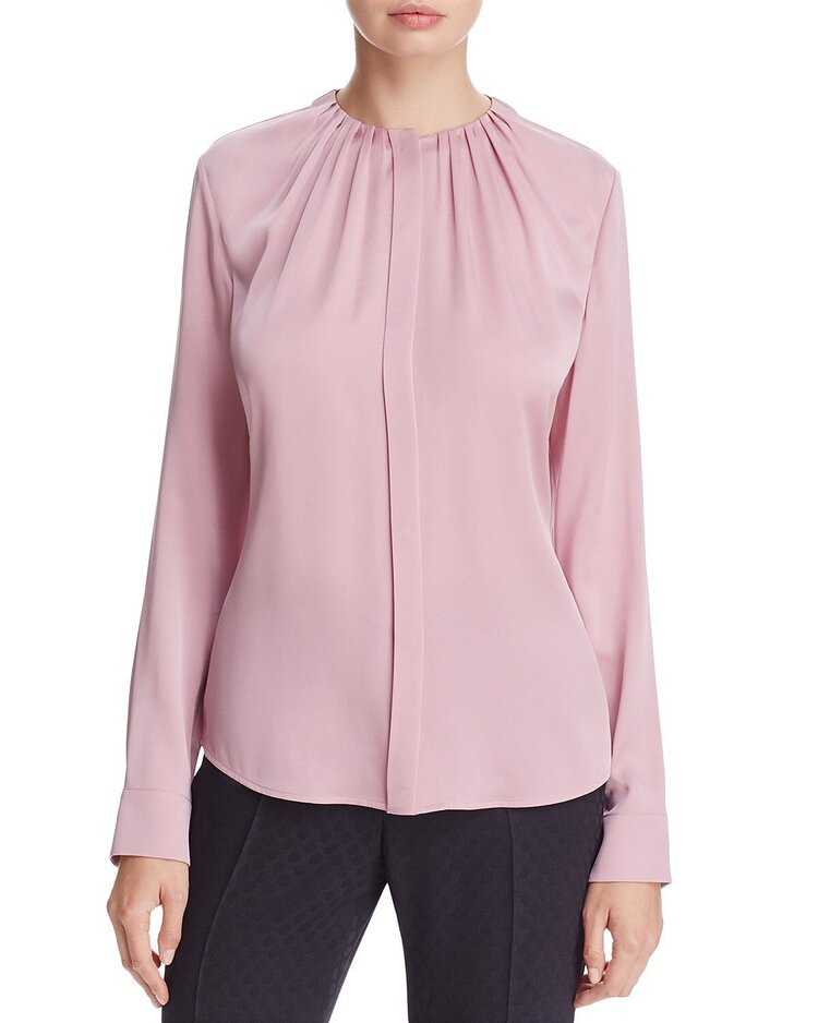 Mary chose her pink Hugo Boss Banora Blouse