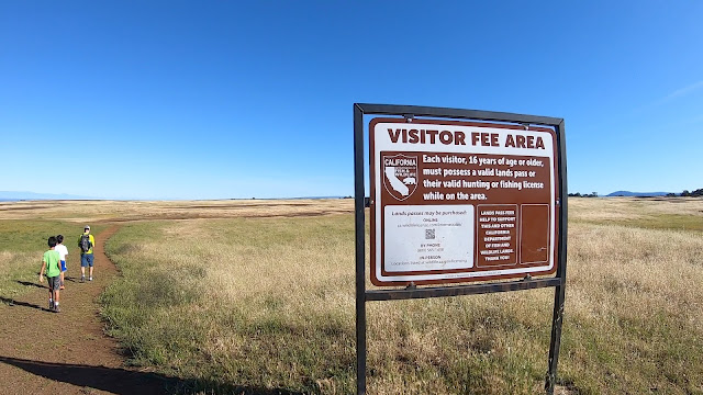 North Table Mountain Fee sign