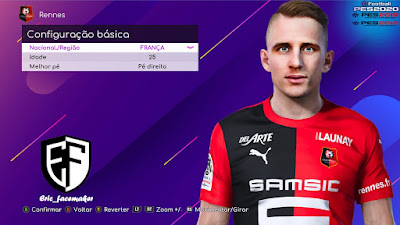 PES 2021 Faces Benjamin Bourigeaud by Eric