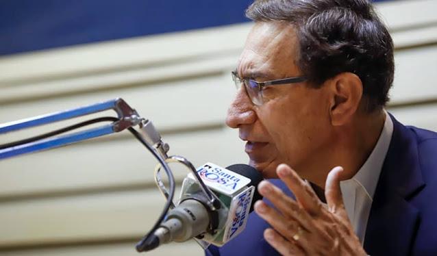 Vizcarra en radio Santa Rosa