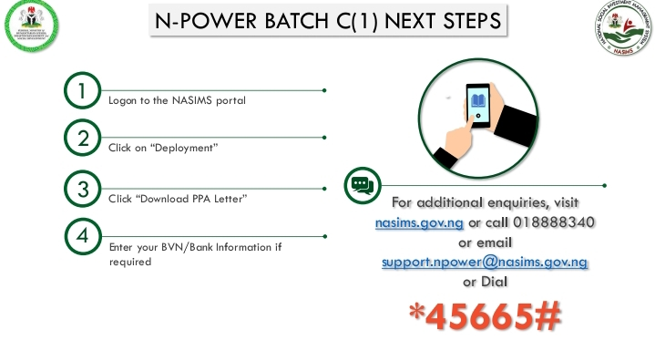 Npower begin Sending of Text Message To Batch C Stream 1 Beneficiaries
