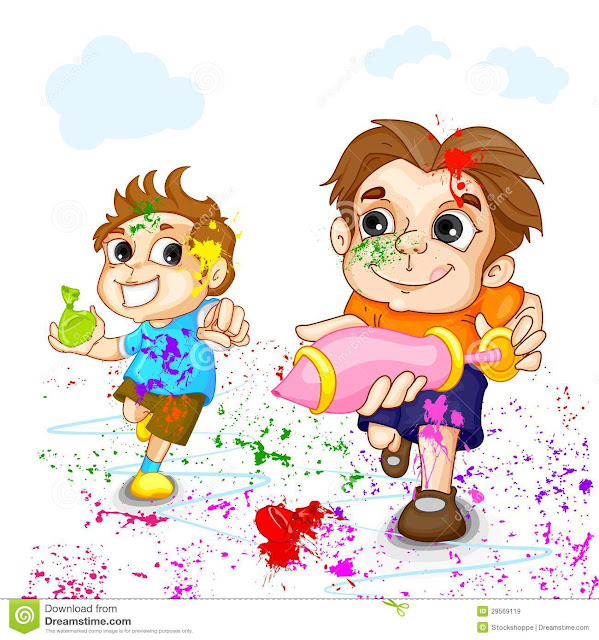Cartoon Pictures Of Holi Festival
