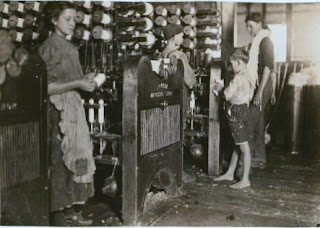 The Lowell Mill Girls, child labor photograph by Lewis Hine.