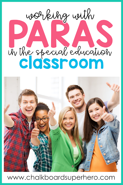working with paraprofessionals in the special needs classroom