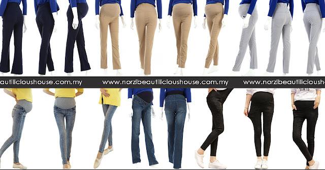 seluar slack mengandung yang cantik dan selesa sehingga sembilan bulan beli secara online