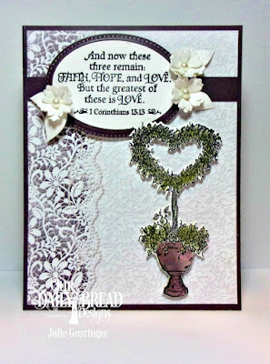 Our Daily Bread Designs Stamp Set: Happy Wedding Day, Custom Dies: Heart Topiary, Pierced Ovals, Ovals, Bitty Blossoms, Paper Collection: Wedding Wishes
