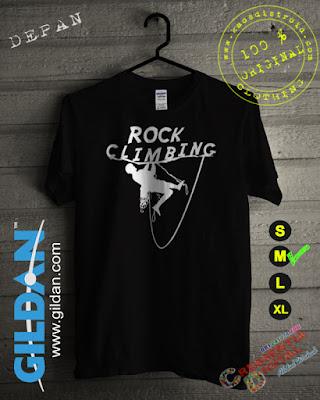 Baju Kaos Distro Rock Climbing Warna Hitam