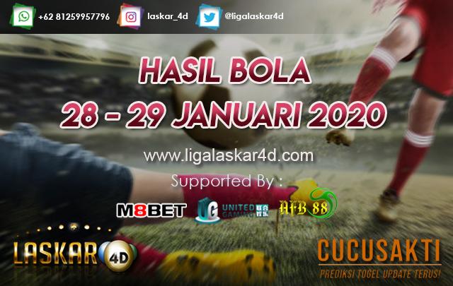 HASIL BOLA JITU TANGGAL 28 – 29 JANUARI 2020