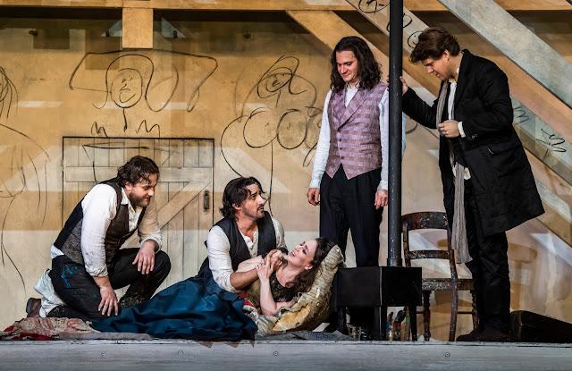 Puccini: La Bohème - Andrzej Filonczyk, Charles Castronovo, Simona Mihai, Gyula Nagy, Peter Kellner - Royal Opera ((C) ROH 2020. Photo by Tristram Kenton)