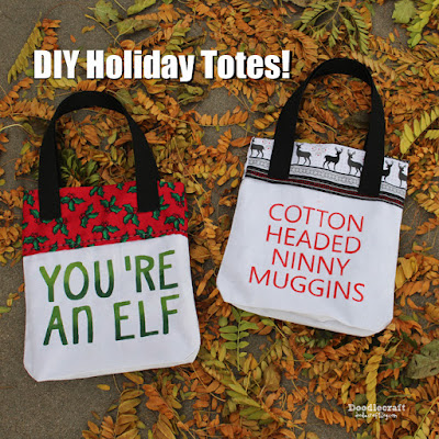 http://www.doodlecraftblog.com/2015/12/funny-painted-holiday-totes.html