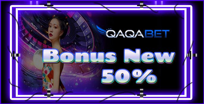 BONUS DEPOSIT NEW MEMBER 50%