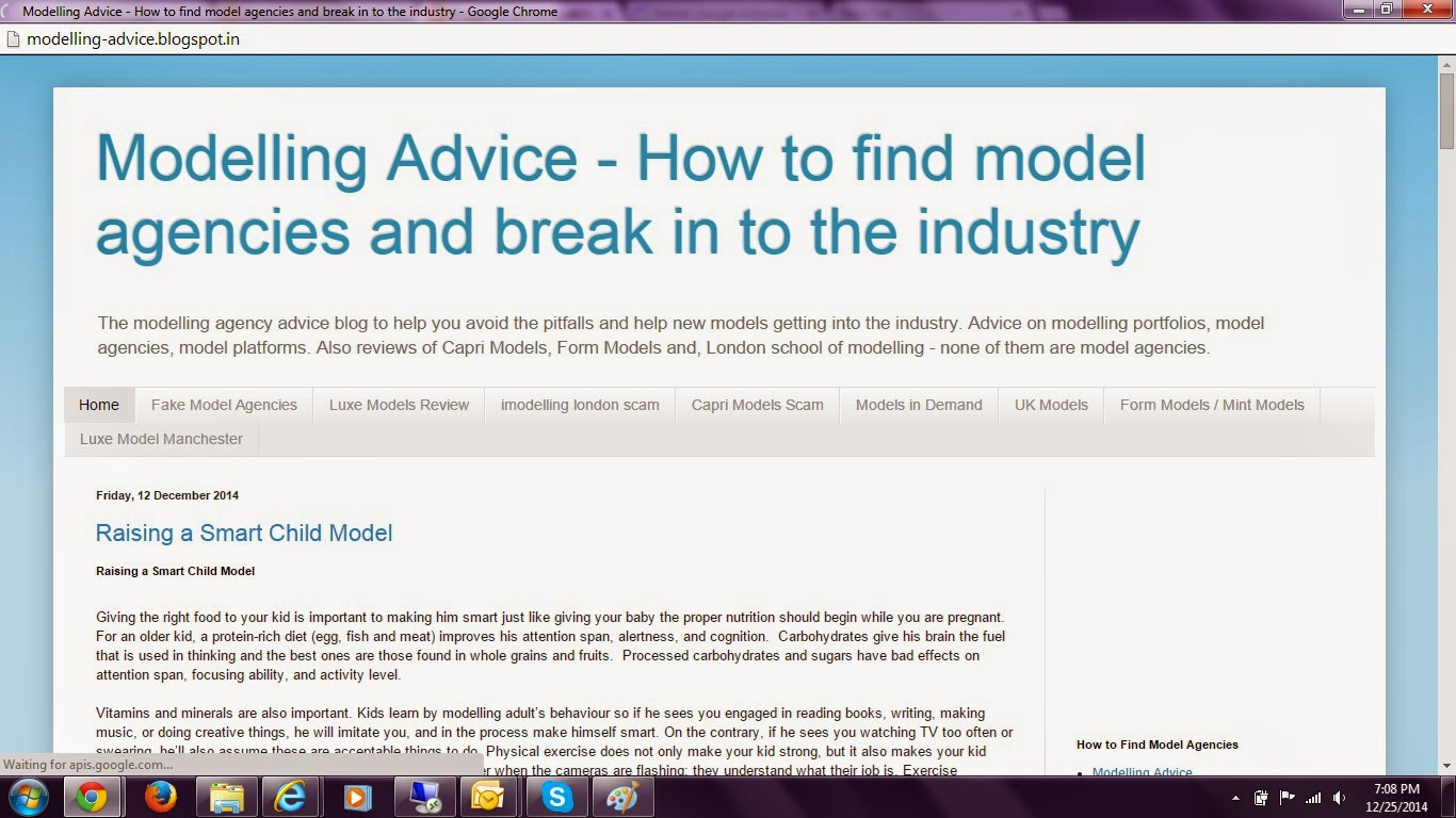 Modelling advice