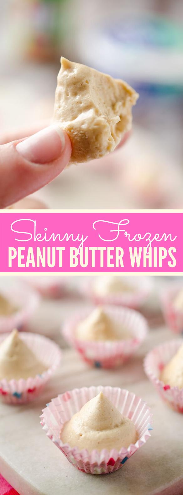 Skinny Frozen Peanut Butter Whips #desserts #lowcalorie