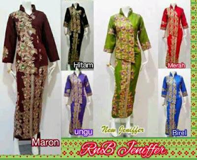 Baju Wanita Modern Model Setelan Batik Rok Panjang