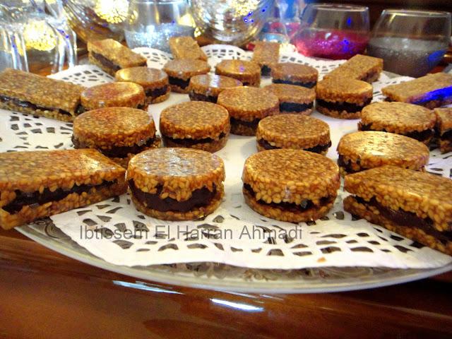 recette facile biscuit nougatine sablé sésame ganache