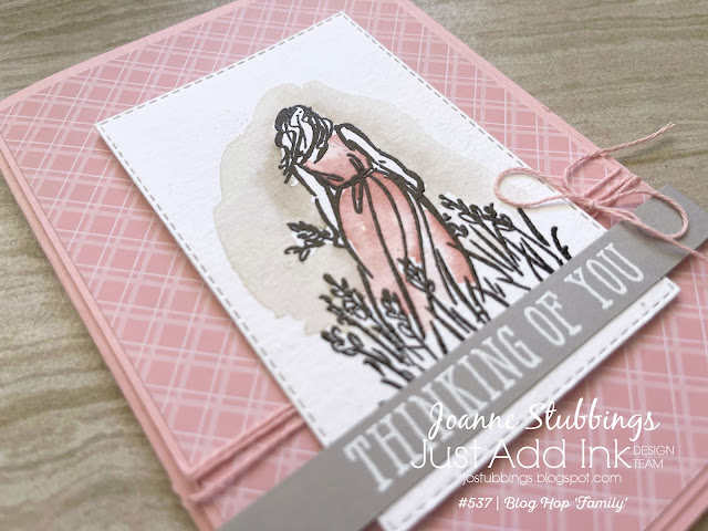 Jo's Stamping Spot - Just Add Ink Challenge #537 watercolour card using Beautiful Moments by Stampin' Up!