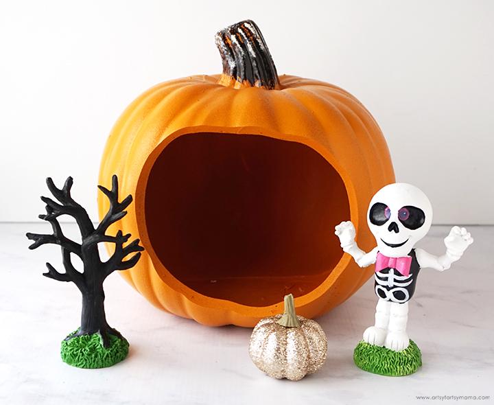 Halloween Pumpkin Diorama Supplies