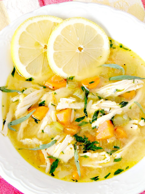 Take your traditional chicken noodle soup to a new level with this Lemon Chicken Noodle Soup. It is light and bright, the perfect soup to chase those winter blues away from www.bobbiskozykitchen.com