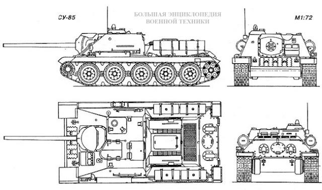 Общий вид САУ СУ-85
