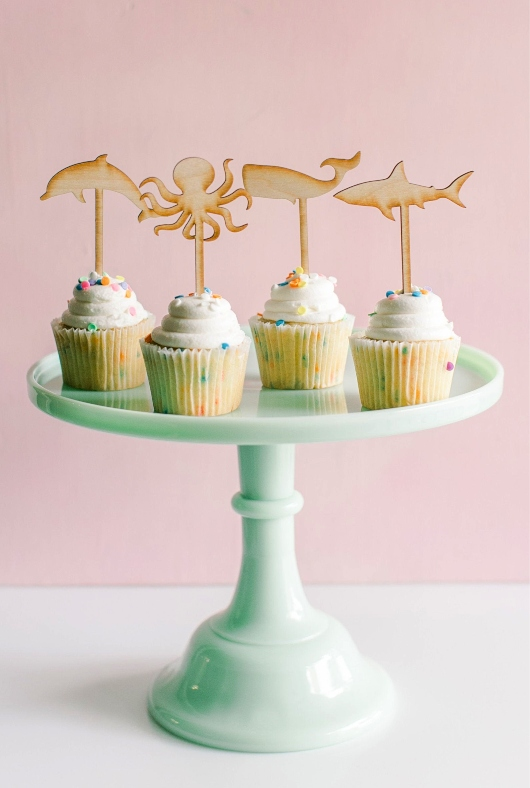 Beach Party Cupcake Toppers