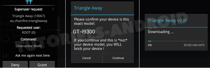 Triangle Away GALAXY S3