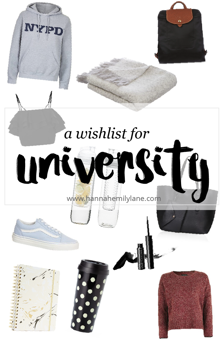 A Wishlist For University | www.hannahemilylane.com