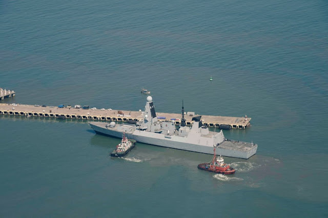 Image Attribute: HMS Defender docking at Mormugao Port, Goa / Dated: November 10, 2019. / Source: Indian Navy