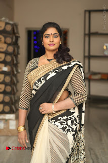 Telugu Actress Jayavani Jayavani Stills in Black Saree at Intlo Deyyam Nakem Bhayam Success Meet  0013.JPG