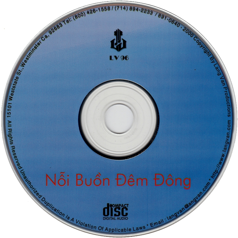 Làng Văn CD096 - Thiên Trang - Nỗi Buồn Đêm Đông (NRG) + bìa scan mới