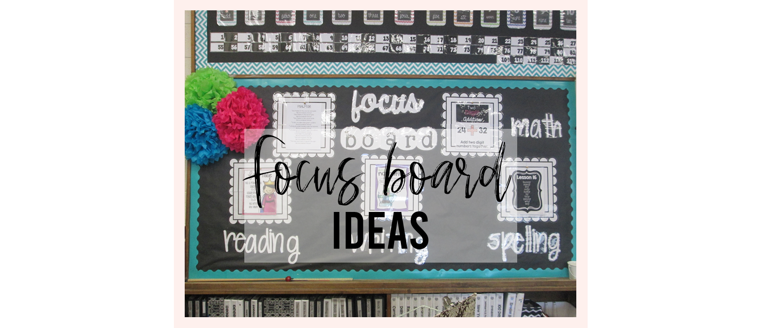 Use a Classroom Focus Board or Objective Board to display what you're learning and share learning goals.