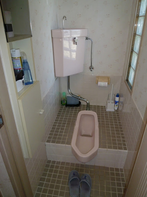 Japanese-style toilet.