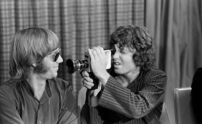Ray Manzarek and Jim Morrison as college students, preserved on film